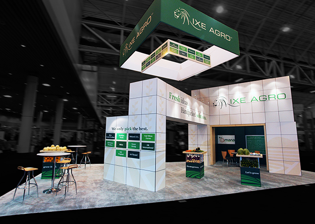 Ixe Agro Trade Show Booth Design Point Concepts Raleigh