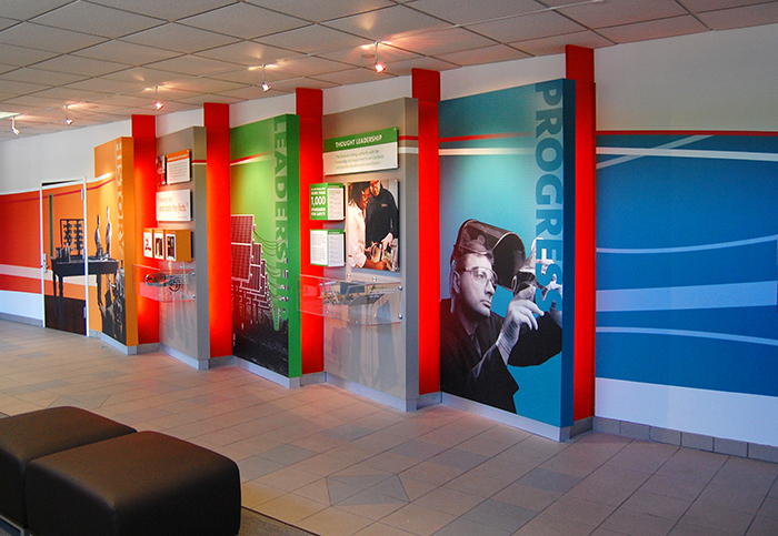 Ul environmental graphics raleigh point concepts - Graphic design for interior designers ...